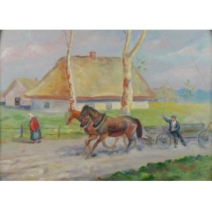 S. KOZŁOWSKI (XX w.), Chłop na furmance