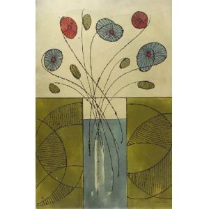 Allan STAYER, Kwiaty w wazonie