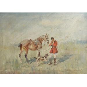 Roman BREITENWALD (1911-1985), Polowanie w zamieci