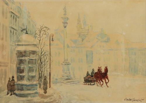 Czesław MROZOWSKI, Plac zamkowy zimą