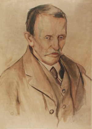 Antoni SĘK (1891 - 1926), Portret męski, ok. 1910