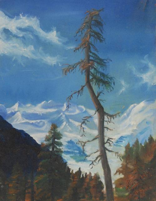 Zefiryn ĆWIKLIŃSKI (1871 - 1939) - przypisywa, Pejzaż górski, ok.1910