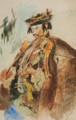 Kazimierz SICHULSKI (1879-1942), Hucuł, 1935
