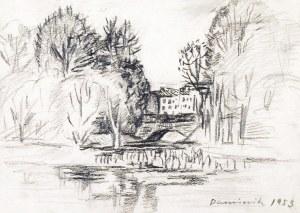 TADEUSZ DOMINIK (1928-2014), Panorama z mostkiem, 1953