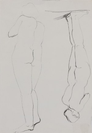 Henryk BERLEWI (1894-1967), Szkice postaci - rysunek dwustronny, 1938
