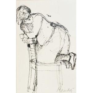 Zygmunt MENKES (1896-1986), Postać klęcząca na krześle - szkic