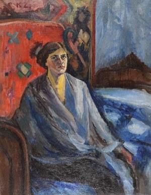 Kazimierz ZIELENIEWSKI (1888-1931), Portret we wnętrzu - Portret żony