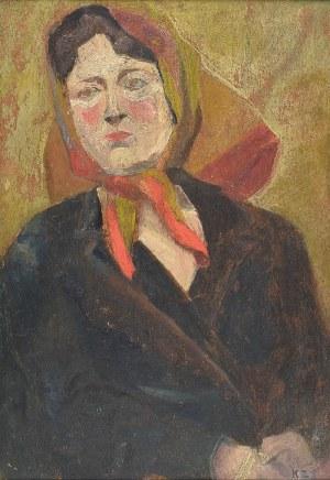 Kazimierz ZIELENIEWSKI (1888-1931), Kobieta w chuście - Żona artysty (?)