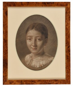 Jan Piotr NORBLIN de la GOURDAINE (1745-1830) - przypisywany, Głowa dziewczyny
