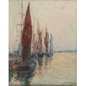 Mieczysław de RAKOWSKI (1882-1947), Port w Ostendzie, 1925