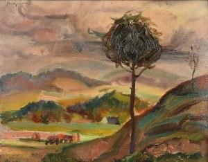 Stanisław BORYSOWSKI (1906-1988), Pejzaż z drzewem