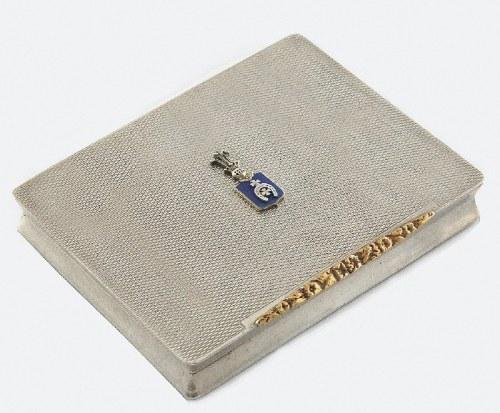 Pudełko na papierosy z herbem Lubicz