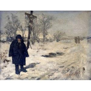 Wacław Koniuszko (1854-1900), Dziad przy drodze koło krzyża