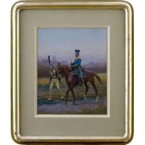 Jan Rosen (1854-1936), Żołnierz prowadzący konia