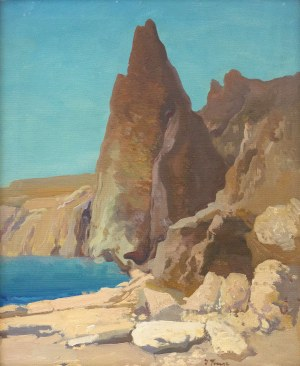 Iwan Trusz (1869-1941), Skaliste wybrzeże nad Morzem Martwym