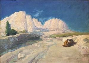 Iwan Trusz (1869-1941), Dwóch Arabów siedzących wśród skał