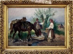 Marian Nowicki (1904-po 1939), Konie u wodopoju