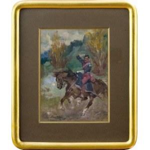 Marian Nowicki (1904-po 1939 Gusen), Jeździec na koniu, 1935