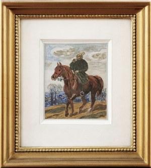 Michał Bylina (1904-1982), Jeździec na koniu, 1940