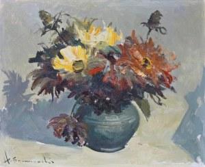 Henryk Baranowski (1932 Starogard Gdański - 2005 Gdynia), Kwiaty w wazonie, 1983 r.