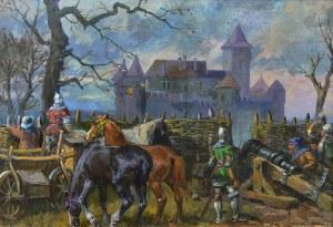 Leszek Piasecki (1928 Lwów - 1990 Wiedeń), Oblężenie zamku