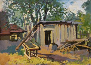 Anna Maślakiewicz-Brzozowska (1912-1986), Stara drewutnia, 1975 r.