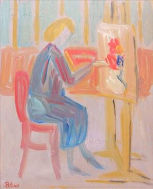 Maurice Blond (1899 Łódź – 1974 Clamart), Kobieta przy sztaludze