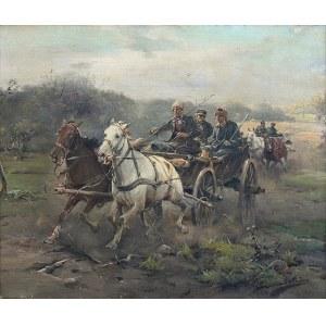 Jan Konarski (1850-1918), W galopie