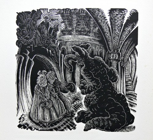 Stefan Mrożewski (1894 Częstochowa-1975 Walnut Creek/USA), Piękna i bestia