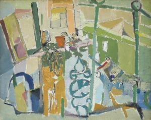 Sobel  Judyta (Jehudith), KOMPOZYCJA JASNOZIELONA, PO 1950
