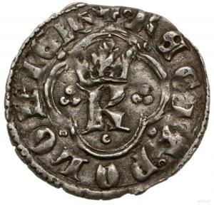 Kwartnik ruski, 1360–1370, mennica Lwów; Aw: Ukoronowan...