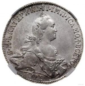 Rubel, 1773 СПБ ЯЧ, mennica Petersburg; na rękawie cary...