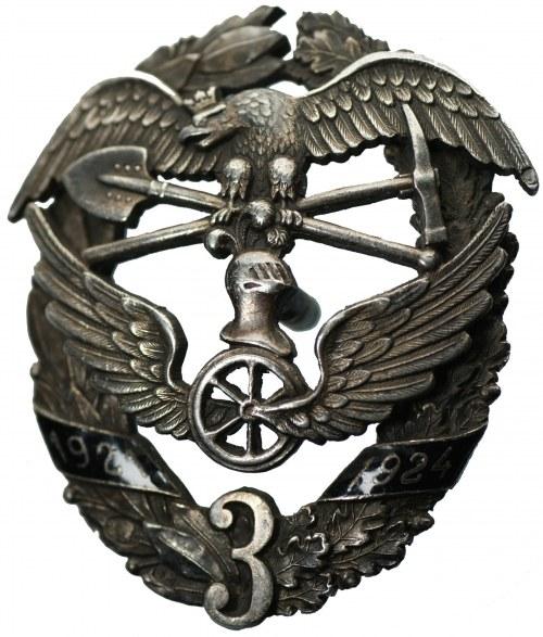 3 Pułk Wojsk Kolejowych - Srebro Ag 875 - BARDZO RZADKA wraz z książeczką wojskową