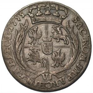 August III Sas (1733-1763) - Szóstak 1755