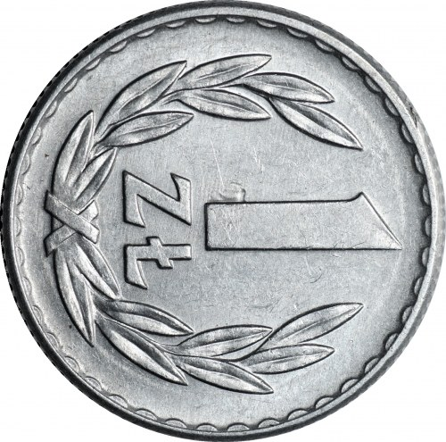 PRL - SKRĘTKA 90 stopni - 1 złoty 1966 - mennicza