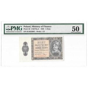 1 złoty 1938 - Chrobry - seria IŁ - PMG 50