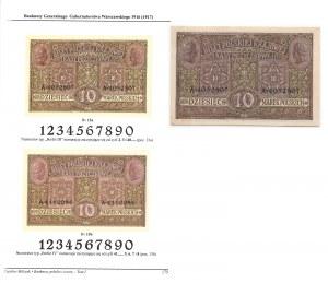 10 marek 1916 - Generał biletów - rzadki numerator
