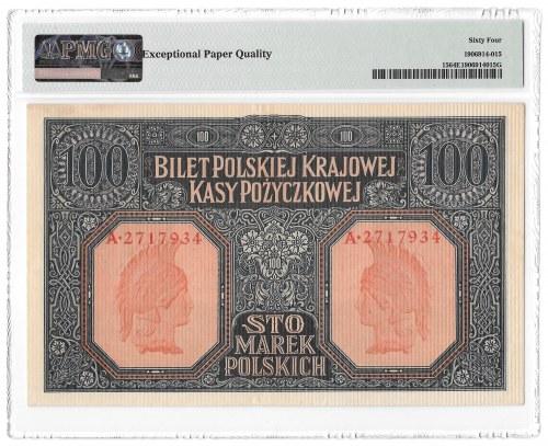 100 marek 1916 Generał - PMG 64 EPQ - Piękny