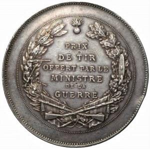 FRANCJA - srebrny medal nagrodowy, sygnowany OUDINE
