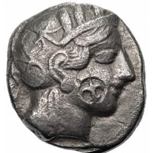 GRECJA - Ateny, Tetradrachma (440-404 p.n.e.) - Sówka - dwie punce