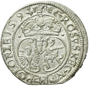 RR-, Zygmunt III Waza, Grosz 1594 Olkusz, ideał
