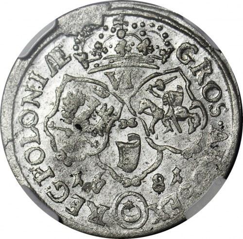 Jan III Sobieski, Szóstak 1681 TLB, Bydgoszcz, piękny