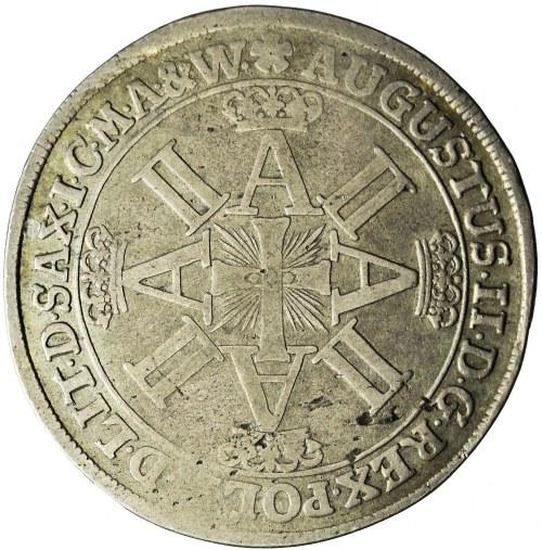 R-, August II Mocny, Talar 1702, Lipsk, Order Dannebroga