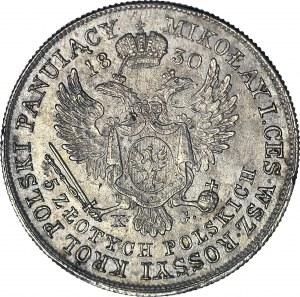 R-, Królestwo Polskie, Aleksander I, 5 złotych 1830 KG, najrzadsze, Berez. 15 zł