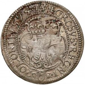 Zygmunt III Waza, Grosz Olkusz 1594 - w PŁASZCZU - b.rzadki