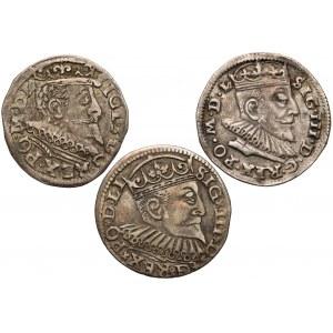 Zygmunt III Waza, Trojaki 1591-1597 (3szt)