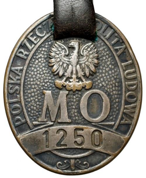 PRL Odznaka Milicji Obywatelskiej 1250