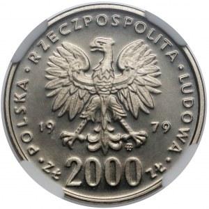 Próba NIKIEL 2.000 złotych 1979 Mieszko I - półpostać