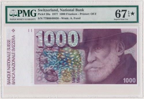 Szwajcaria, 1.000 Franken 1977