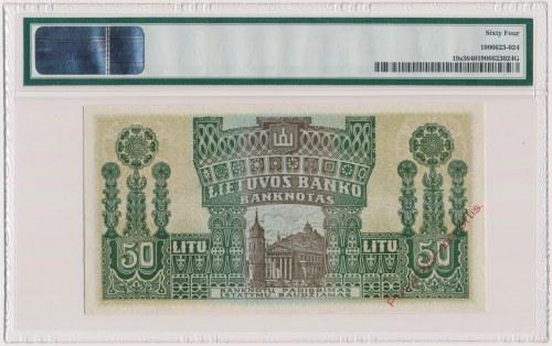 Litwa, 50 Litu 1922 SPECIMEN